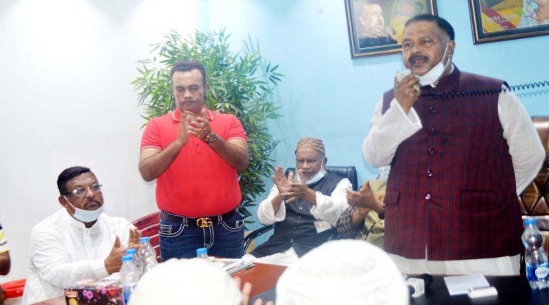 রাজধানীতে আলহাজ্ব এখলাস উদ্দিন মোল্লার নির্বাচনী উঠান বৈঠক